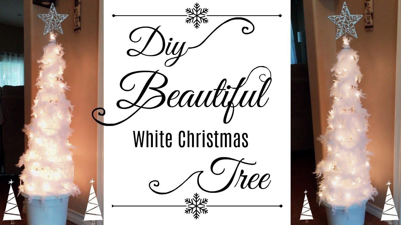 Diy White Feathers Christmas Tree | ❅ Christmas Home Decor Collaboration