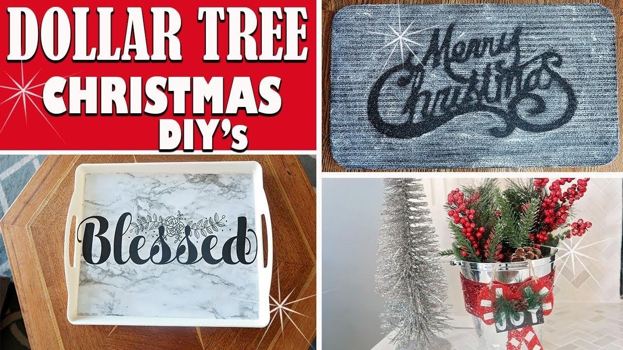 ????DOLLAR TREE CHRISTMAS DIY 2018 - DIY HOLIDAY HOME DECOR IDEAS????