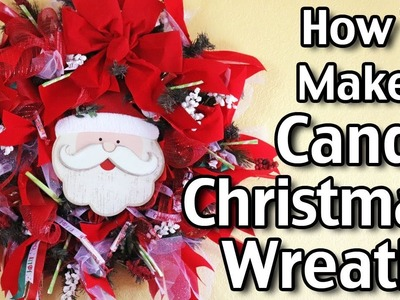 Dollar Tree Christmas Wreath! How To Make A Candy Christmas Wreath!