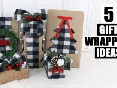 DOLLAR TREE DIY CHRISTMAS GIFT WRAPPING IDEAS | Buffalo Check Theme
