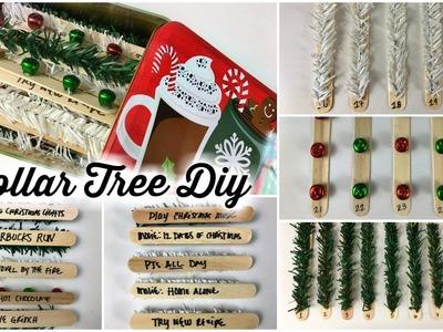 DOLLAR TREE DIY   CHRISTMAS ADVENT CALENDAR   BUCKET LIST STYLE