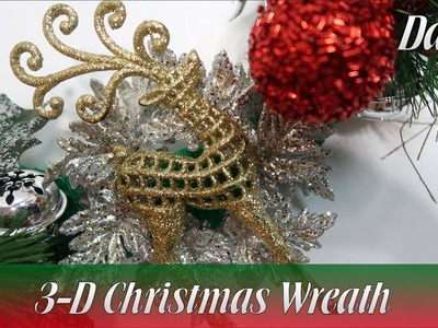 Dollar Tree DIY | Reindeer Flight: 3-D Christmas Wreath | How To