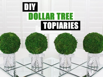 DOLLAR TREE DIY TOPIARIES | Easy Glam Home Decor Idea