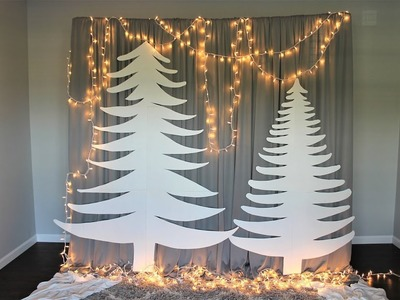 Easy & Affordable Christmas Backdrop DIY | How To