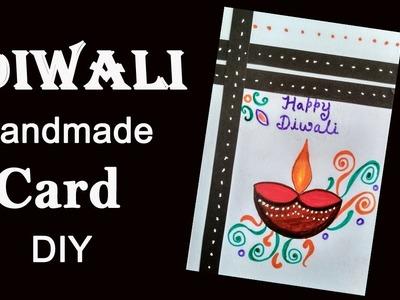 Easy Diya || Diy Diwali card.Simple Diwali card || How to draw lamp || Kids and beginners drawing