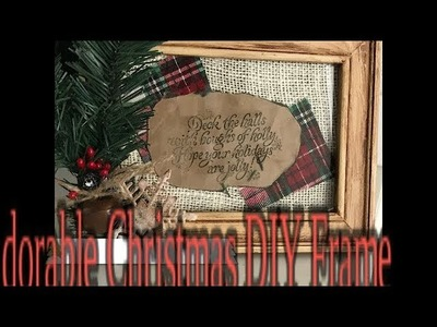 Easy.Farmhouse. Frame.DIY. For Christmas