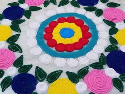 Easy Rangoli Designs for Diwali || How to Make Rangoli At Home