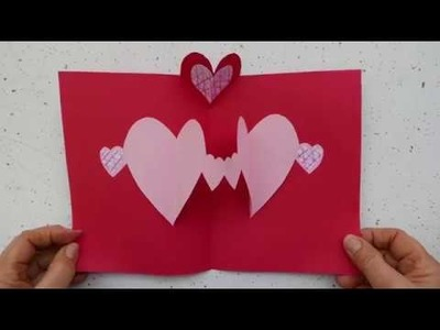 Easy Valentine Pop-Up Heart Card