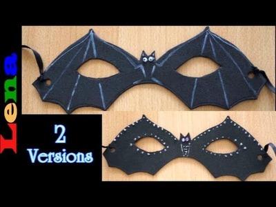 Fledermaus Maske basteln - How to make a bat mask - как сделать маску летучей мыши