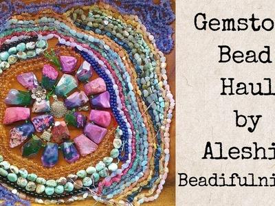 Gemstone Bead Haul from Lima Beads and Jewel School