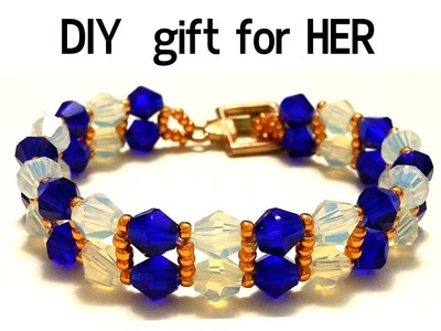 Gift for her. beaded bracelet. How to make an elegant bracelet