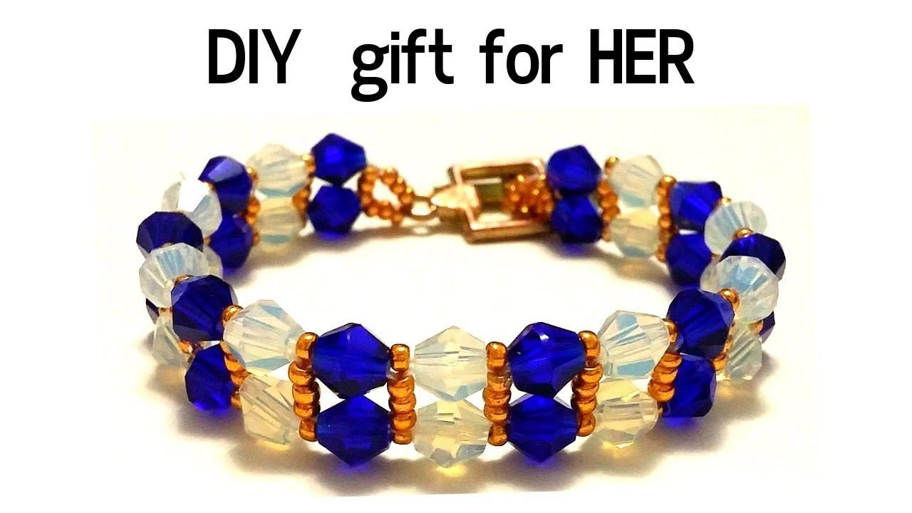 Gift for her. beaded bracelet. How to make an elegant bracelet