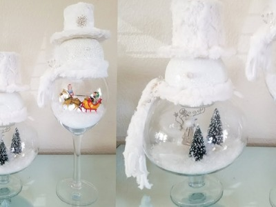 GLASS SNOWMAN WITH LIGHT UP SCENERY INSIDE | BEAUTIFUL CHRISTMAS DISPLAY