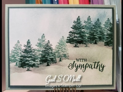 Glycerin Background Rooted in Nature Stampin' Up!