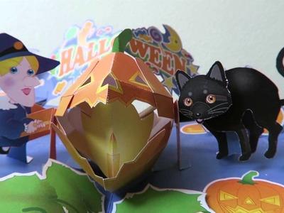 Halloween pop up card - papercraft - dutchpapergirl