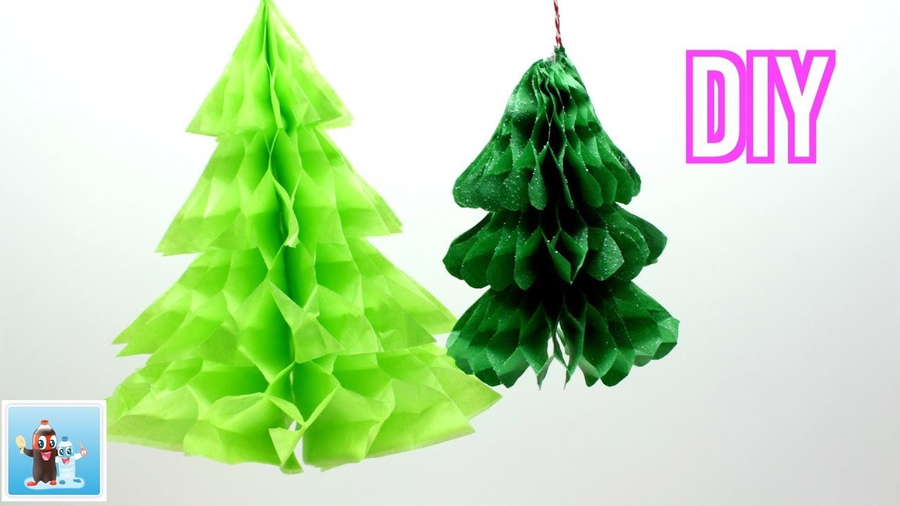 Handmade Christmas Tree from Tissue Paper DIY Art and Crafts Ideas