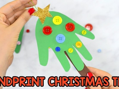 Handprint Christmas Tree Ornament Craft for Kids