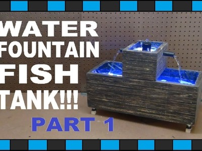 How To Build A Mini Water Fountain Fish Tank!!!. Part One