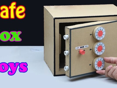 How to Build a Safe Box with Combination Number Lock from Cardboard   Safe Box Toy
