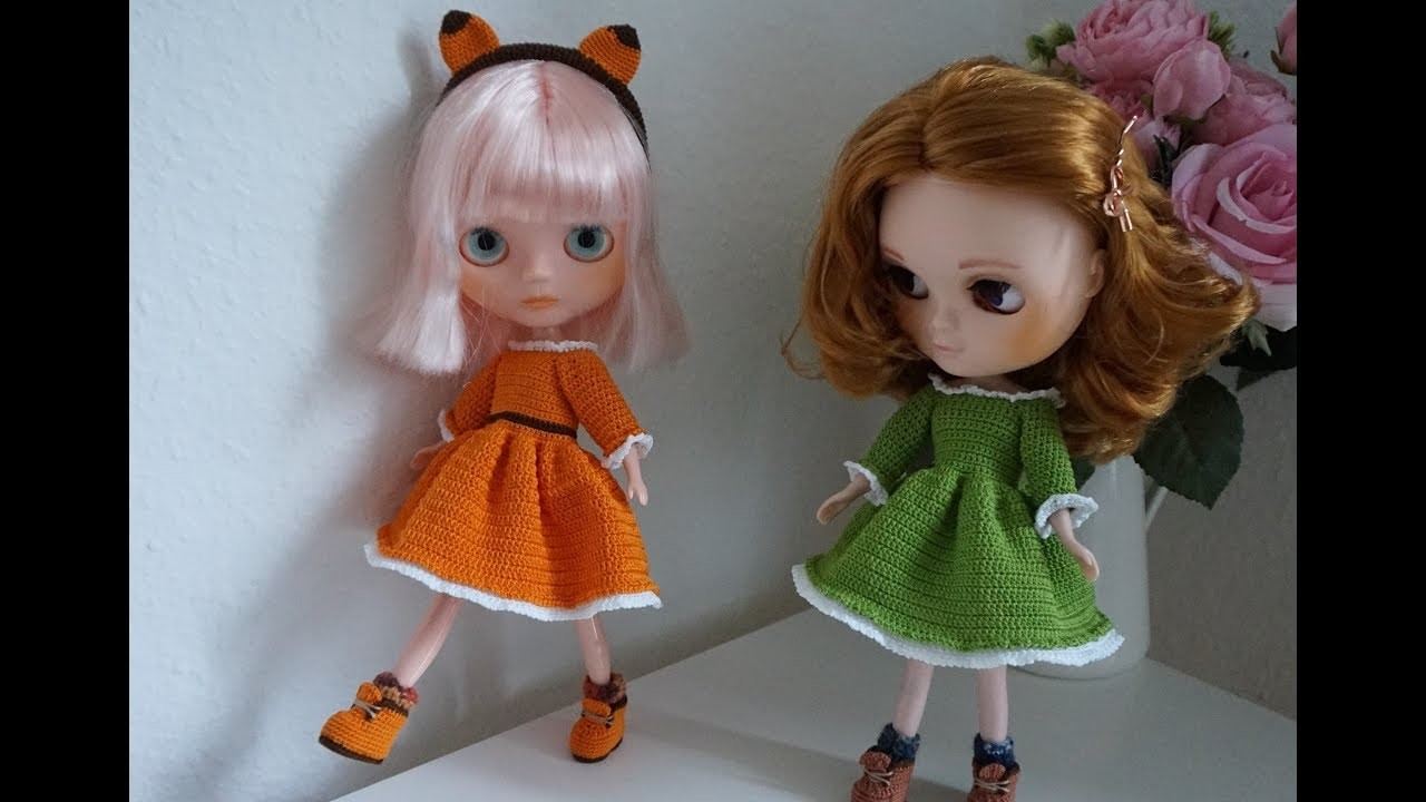 How to crochet doll dresses. doll outfit