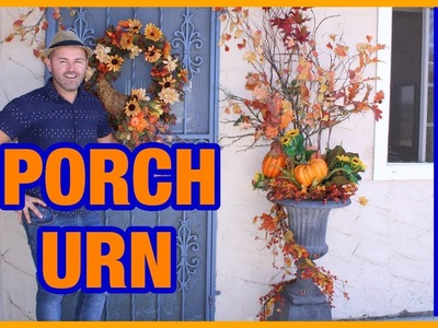 How To Decorate Your Patio Or Porch Urns For Fall 2018 . Autumn Planter DIY