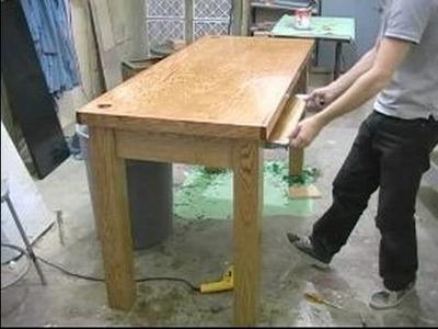 How to Design & Build a Computer Desk : Installing a Keyboard Shelf on Computer Desk
