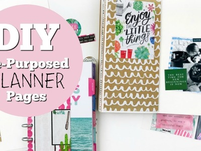 How to: DIY | Repurpose Planner Pages