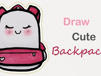 How to draw a cute Backpack | Step by step art for kids