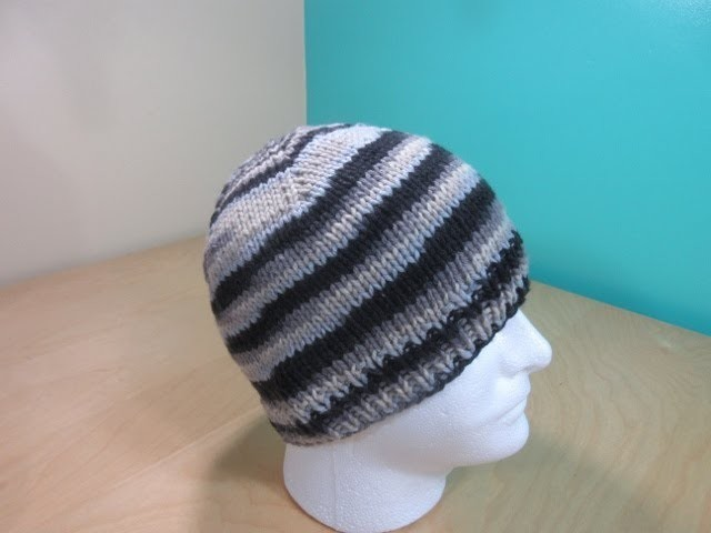How to knit adult beanie decreasing with double pointed needles