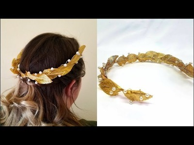 How to Make a Greek Goddess Crown! Super Easy!