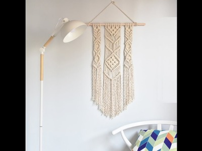 How to make a  Macrame Wall Hanging  (for Beginner)