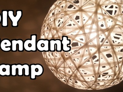 How to make a Modern Pendant Lamp (라피아 전등갓 ,한글자막 있음)