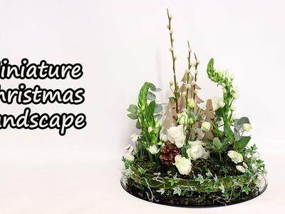 How To Make A Mossy Christmas Posy Design