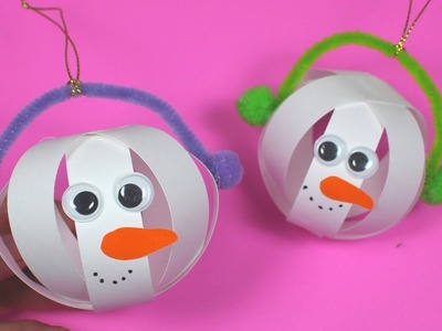 How to Make a Paper Snowman Bauble | Christmas Craft for Kids