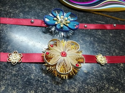 HOW TO MAKE A RAKHI WITH QUILLING !!??