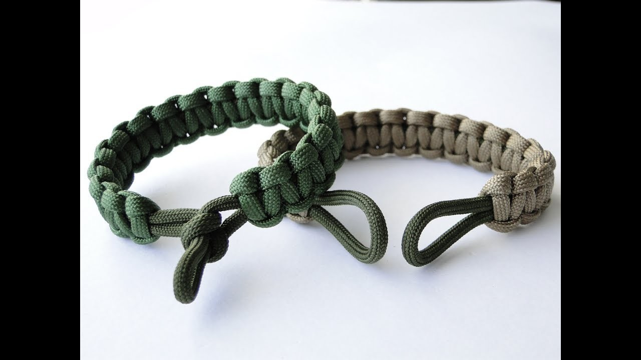 How to Make and Put on 2 Loop Paracord Survival Bracelet-Pull Handle