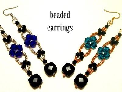 How to make earrings. Beaded earrings tutorial. 10 MINS DIY GIFT