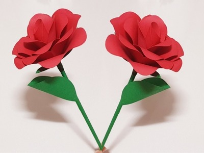 How to Make Easy Realistic Paper Rose - DIY paper flower tutorial