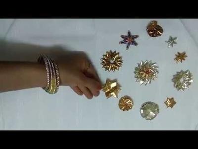 How to make gota designer star flower - flower design 1