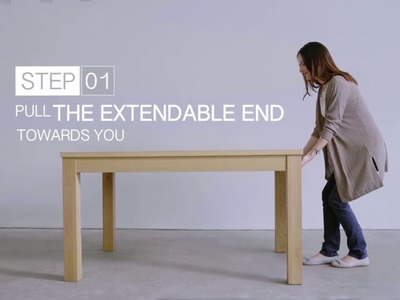 How to Open the Straight Extendable Dining Table