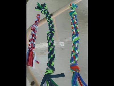 Make a T Shirt Dog Tug Toy