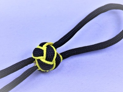 Make Button Knot with Stitched Micro Cord Accent  - BoredParacord.com