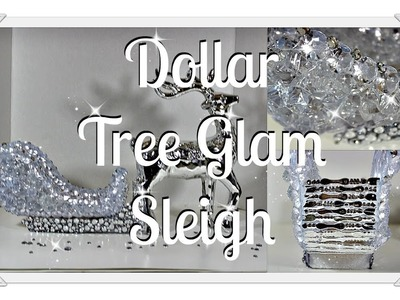 NEW ????DIY Crystal Santa Sleigh????||Dollar Tree Glam????