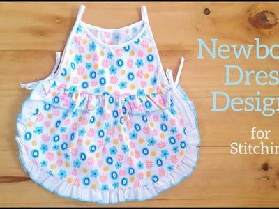 Newborn Dress Designs for Stitching by SewMomo