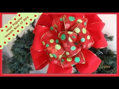 Outdoor Velvet Ribbon Bow:  Perfect Wreath or Tree Topper bow!!!