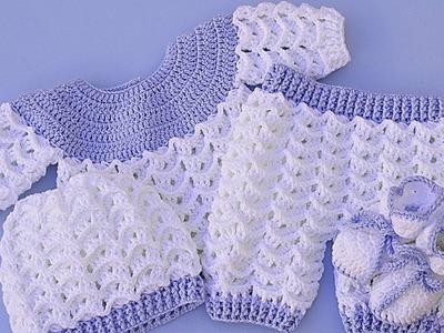 Pants set with jersey very easy Majovel crochet