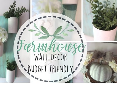 Pinterest Inspired Farmhouse Wall Decor | Budget Friendly Decor | Free Wall Decor | Farmhouse DIY