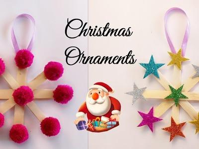 Popsicle Sticks Christmas Ornaments.Chritstmas Crafts.Christmas Decoration Ideas