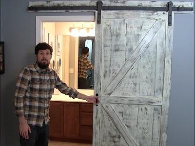 RUSTIC SLIDING BARN DOOR - HOW TO