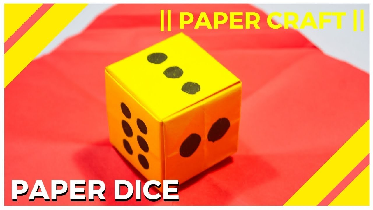 SIMPLE ORIGAMI DICE - MAKE A PAPER DICE | PLAY WITH PEOPLE YOU LIKE || PAPER CRAFT ||